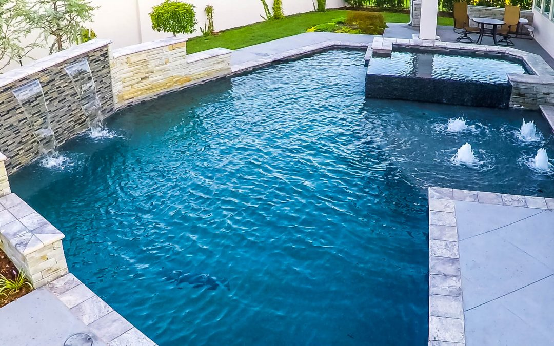 Rain Wall Courtyard Pool